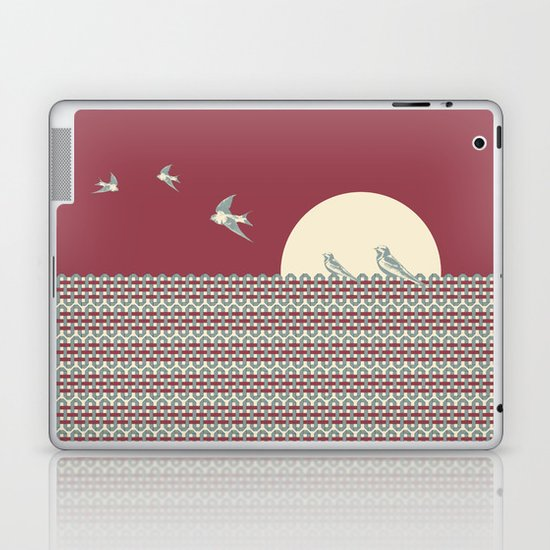 One morning, on a fence Laptop & iPad Skin