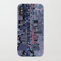 austin iPhone & iPod Cases featuring austin texas city skyline by Bekim ART