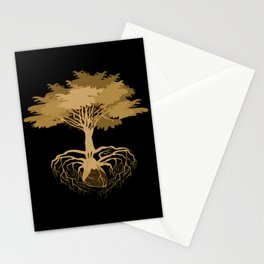 Heart Tree - Orange Stationery Cards