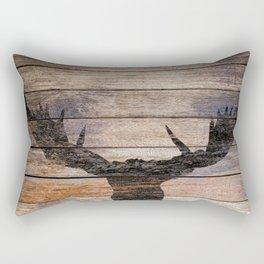 Rustic Black Moose Silhouette A424b Rectangular Pillow