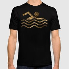 Brickstone waves Mens Fitted Tee Black MEDIUM