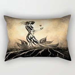 Woman in Gown Rectangular Pillow