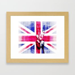 Peace To London Framed Art Print