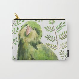 Kakapo in the ferns Carry-All Pouch