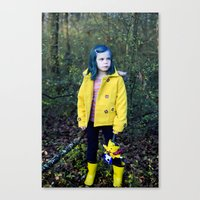 coraline Canvas Prints featuring Coraline by Kelly Is Nice