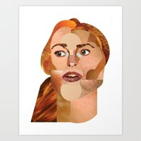 lindsay lohan Art Prints featuring Lindsay Lohan  by Rebecca Singer Illustration