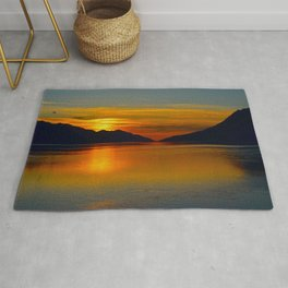 Alaskan Sunset Silhouette - Turnagain Arm Rug