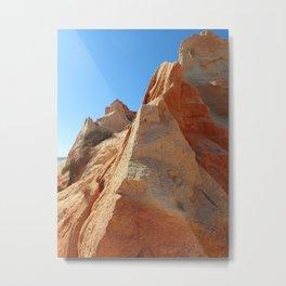 Rocky coast of Algarve, Portugal Metal Print