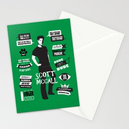 Scott Mccall Teen Wolf Quotes Stationery Cards