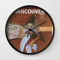 vancouver Wall Clocks featuring Locals Only - Vancouver by Matthew Billington