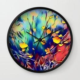 Pop art flowers Wall Clock