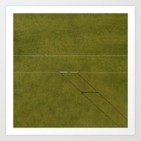 Football Field From Above Art Print