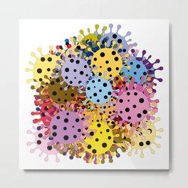 Pandemic - multiplication of viruses Metal Print