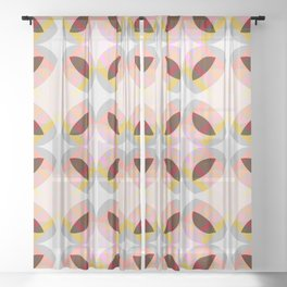 Goronwy - Colorful Decorative Abstract Art Pattern Sheer Curtain