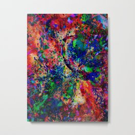 Psychedelic fractal galaxy Metal Print