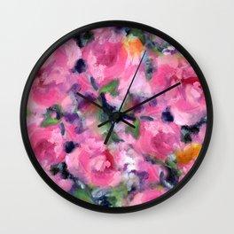 Roses, Roses Wall Clock