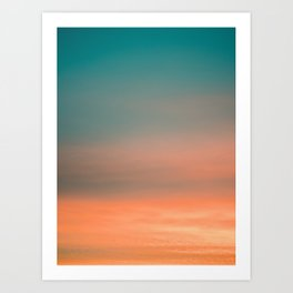 Colorful sunrise II | Wanderlust fine art print photography | Sunset sky | vertical Art Print