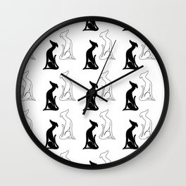 Greyhound sitting Wall Clock