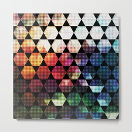 Pop Art Hex Design Metal Print