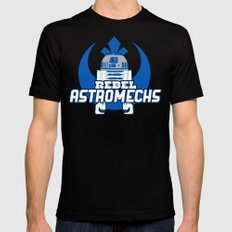 Rebel Astromechs MEDIUM Mens Fitted Tee Black
