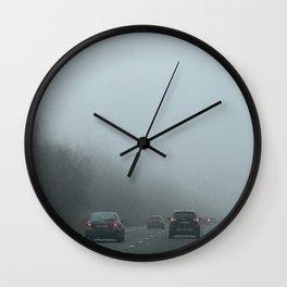 Misty Morning Drive Wall Clock