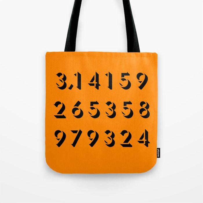 Pi - 3,14 -Orange Tote Bag