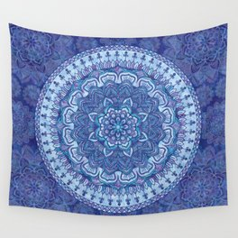 Blue Purple Mandala Wall Tapestry