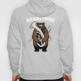 Funny Euphonium Baritone design Marching Band Bearitone Gift Brass Band Musicians Teachers and Hoody