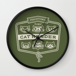 Professional Cat Herder Wall Clock