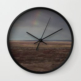 Desert Rainbow Wall Clock