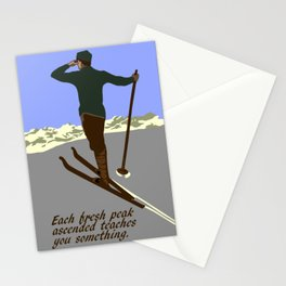 Each mountain peak you ascend Stationery Cards