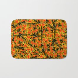 Golden Red Bath Mat
