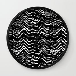 Dark Glitch Abstract Pattern Wall Clock