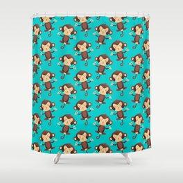 ChimpanZEN Shower Curtain