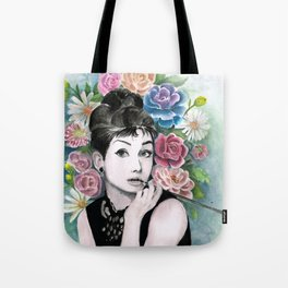 Audrey Hepburn as Holly Golightly Tote Bag