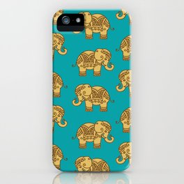 Elephant Pattern iPhone Case