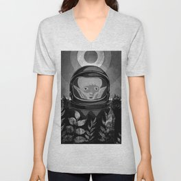 We come in peace No. 2 BW Unisex V-Neck