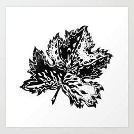 AfetMirzayeva Graphic Ink illustration drawing abstract leaf nature Art Print