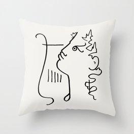 Poster-Jean Cocteau-Orpheus 2. Throw Pillow