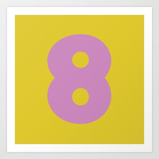 Number 8 Art Print