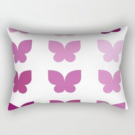 Butterflies in Purple Ombre Rectangular Pillow