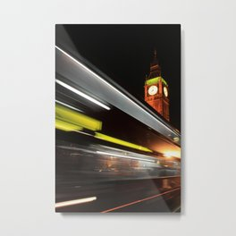 Big Ben Bus Metal Print
