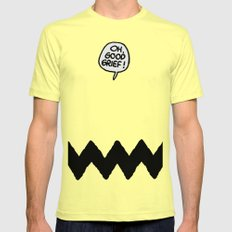 CHARLIE CHEVRON SMALL Mens Fitted Tee Lemon