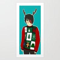 zuko Art Prints featuring Xmas Zuko by Sakizm
