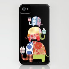Patchwork Elephants - Gifts Slim Case iPhone (4, 4s)