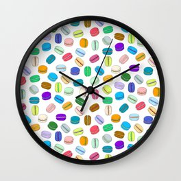 Macaron Pattern Wall Clock