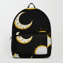 Moon Stars Pattern Birthday Gift Sky Moonlight Backpack