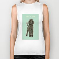 poodle Biker Tanks featuring Poodle by Katherine Coulton
