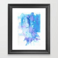 Lady in Blue Framed Art Print