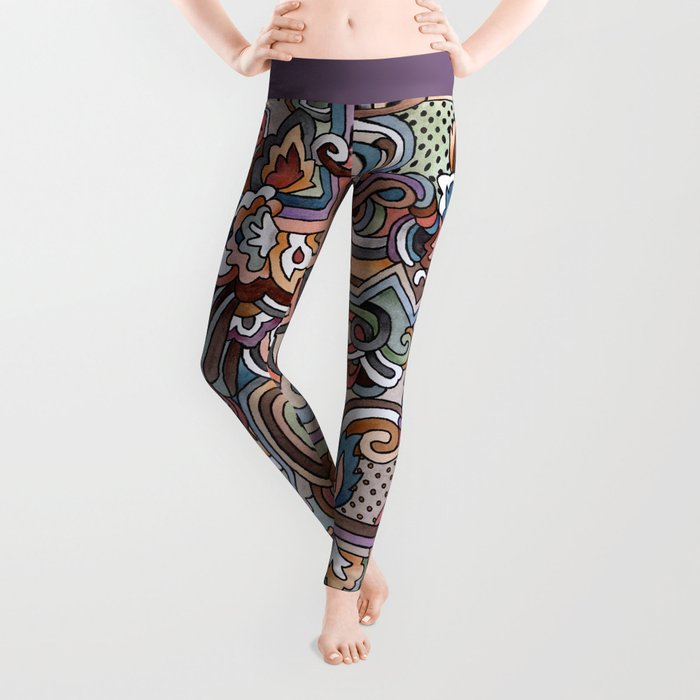 Rayas y rulos Leggings